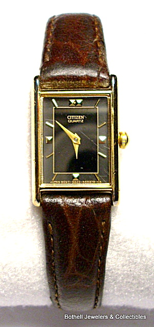Citizen gold tone tank style quartz wristwatch (Image1)
