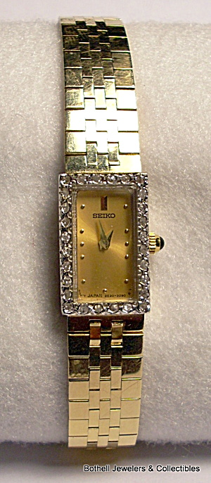 Seiko 14 karat yellow gold lady's vintage wrist watch (Image1)