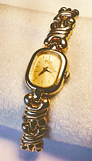 Seiko gold tone quartz wrist watch (Image1)
