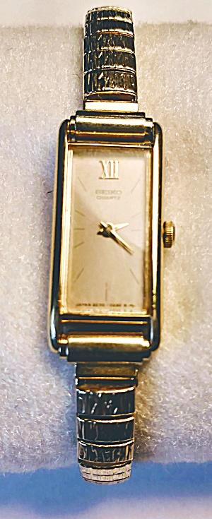 Seiko gold tone vintage lady's wrist watch (Image1)