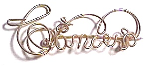 Cancer Zodiac Gold Wire Brooch (Image1)