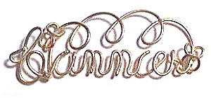 Canncer (mispelled) Zodiac Gold Wire Pendant (Image1)