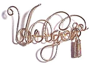Virgo Zodiac Gold Wire Brooch or Pendant (Image1)