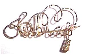 Libra Zodiac Gold Wire Brooch or Pendant (Image1)