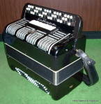 Click to view larger image of 'Saturn' 3 row button accordion from Russia (Image3)