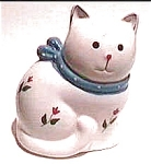 Click to view larger image of Flowered Cat coin bank (Image1)