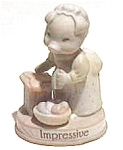 Click here to enlarge image and see more about item af22: 'Impressive' pig 'Busy Days' figurine