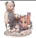 Click here to enlarge image and see more about item afb4: Berry Hill bear figurine
