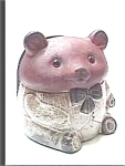 Click here to enlarge image and see more about item afb5: Bear ceramic napkin holder figurine