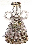 Click here to enlarge image and see more about item anf9: Crystal beaded Angel Christmas figurine