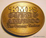 Click to view larger image of Belt Buckle KMPS radio station Washington 1970s (Image2)