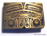 Belt Buckle sandcast Northwest Native American Totem