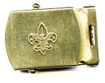 Click to view larger image of Official Boy Scout vintage brass belt buckle (Image1)
