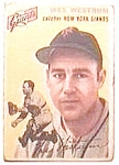 Click here to enlarge image and see more about item bbt1: Wes Westrum baseball  card 1954 Topps #180