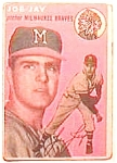 Click here to enlarge image and see more about item bbt3: Joe Jay baseball trading card 1954 Topps #141