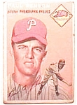 Paul Penson baseball card 1954 Topps #236