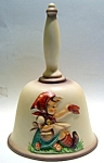 Click here to enlarge image and see more about item bellhumgrlsit5: Vintage Hummel annual bell little girl sitting