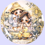 Click here to enlarge image and see more about item bergsmaset: 'Children Of The Seasons' Jody Bergsma plate set