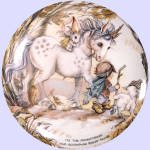 Click to view larger image of 'Children Of The Seasons' Jody Bergsma plate set (Image2)