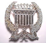 Click here to enlarge image and see more about item bklcdtrkrgrl3: Belt Buckle Trucker girl Cadillac rhinestone
