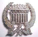 Click to view larger image of Belt Buckle Trucker girl Cadillac rhinestone (Image2)