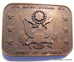 Click here to enlarge image and see more about item bklcntnl4: Vintage bicentennial 1776-1976 belt buckle