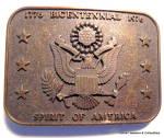 Vintage bicentennial 1776-1976 belt buckle