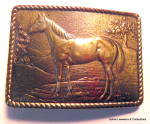 Click here to enlarge image and see more about item bklhrs1: Belt Buckle Vintage Horse