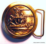 Click to view larger image of Belt Buckle Hunters design vintage (Image1)