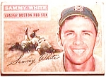 Click here to enlarge image and see more about item btc10: Sammy White baseball card 1956 Topps #168