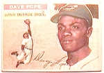 Click here to enlarge image and see more about item btc6: Dave Pope baseball card 1956 Topps #154