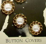 Click to view larger image of Vintage rose design button covers w/ matching earrings (Image3)