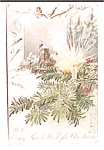 Antique Vintage Christmas Postcard 1907