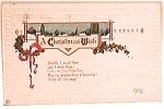 Click to view larger image of Antique Vintage Christmas Postcard1916 (Image1)