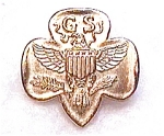Click here to enlarge image and see more about item cj3: Girl Scout  vintage pin