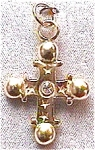 Click here to enlarge image and see more about item cjc1: Rhinestone cross & chain