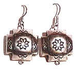 Click here to enlarge image and see more about item cje004: Navajo style engraved earrings