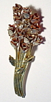 Flower cluster vintage brooch or pin