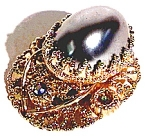Click to view larger image of Faux Pearl Rhinestone Pendant (Image1)