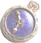Click to view larger image of Clock Design Blue Stone Pendant (Image1)