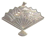 Click to view larger image of Fan Design Metal Enlay Pendant (Image1)