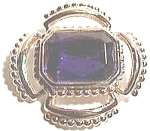 Click to view larger image of Faux blue Sapphire vintage gold plated brooch (Image1)