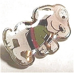 Click to view larger image of Cloisonne 'Snoopy' style dog pin (Image1)