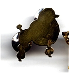 Click to view larger image of Poodle dog brass lapel pin (Image1)