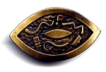African design vintage brooch or pin