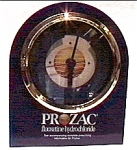 Click here to enlarge image and see more about item cloc10: Prozac promotional quartz clock