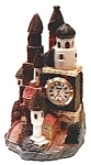 Click here to enlarge image and see more about item cloc3: Castle figurine quartz clock