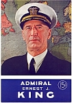 Click here to enlarge image and see more about item comking1: Admiral Ernest J. King vintage comic magazine 1944
