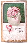 Easter Greeting Flower Postcard 1912