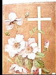 Click here to enlarge image and see more about item epc1: Easter Cross Flowers Postcard 1912